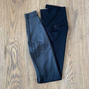 Nike Zonal Strength Ombré Leggings Black/GraySmall